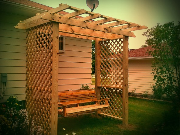Pergola swing set plans free download make a bench gifted42cvur0 - Arbor bench plans set ...